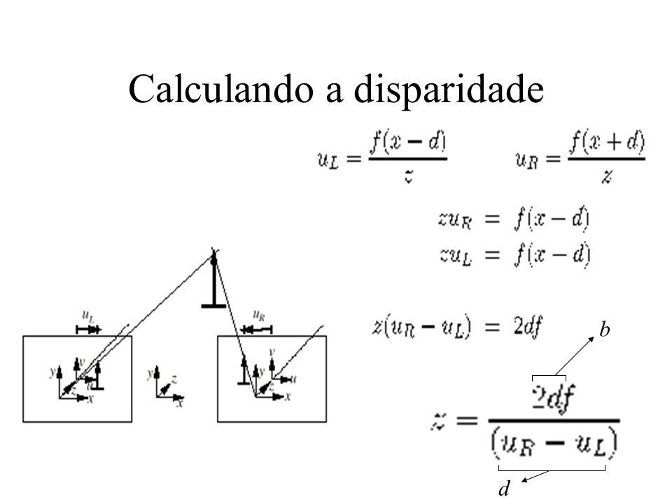 Calculando a disparidade b d