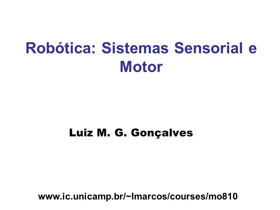 www.ic.unicamp.br/~lmarcos/courses/mo810 Robótica: Sistemas Sensorial e Motor Luiz M. G. Gonçalves