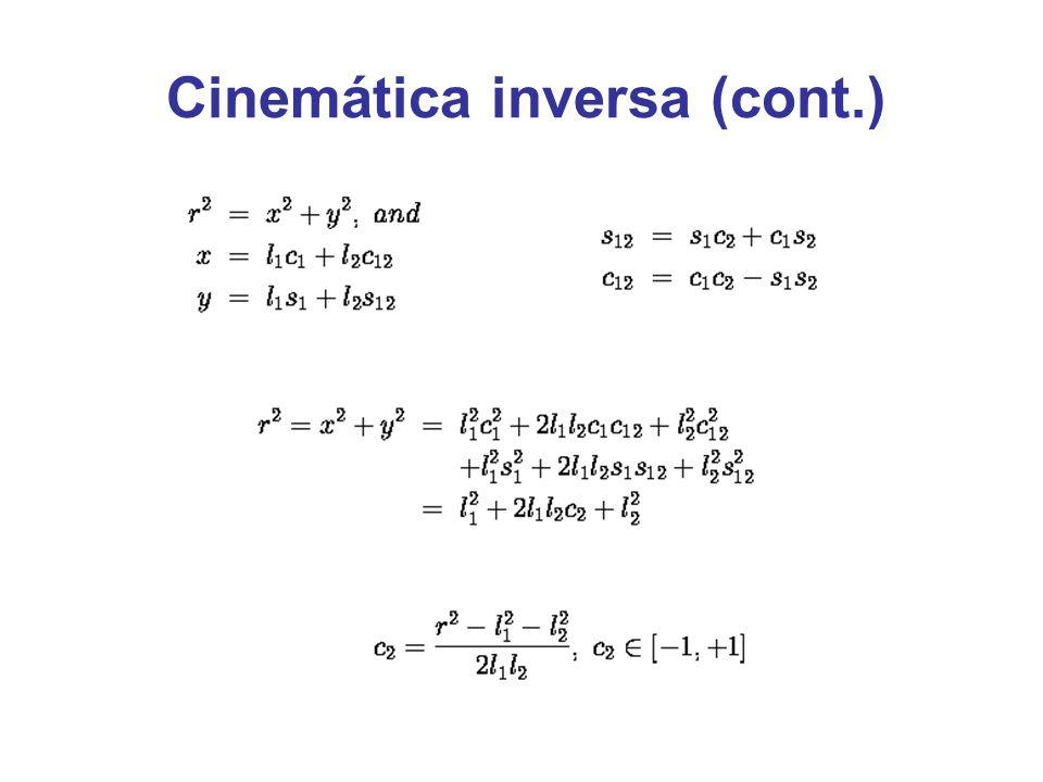 Cinemática inversa (cont.)