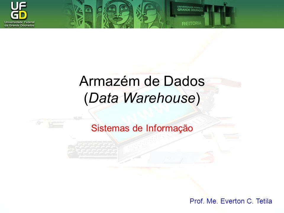 Armazém de Dados (Data Warehouse) Sistemas de Informação Prof. Me. Everton C. Tetila