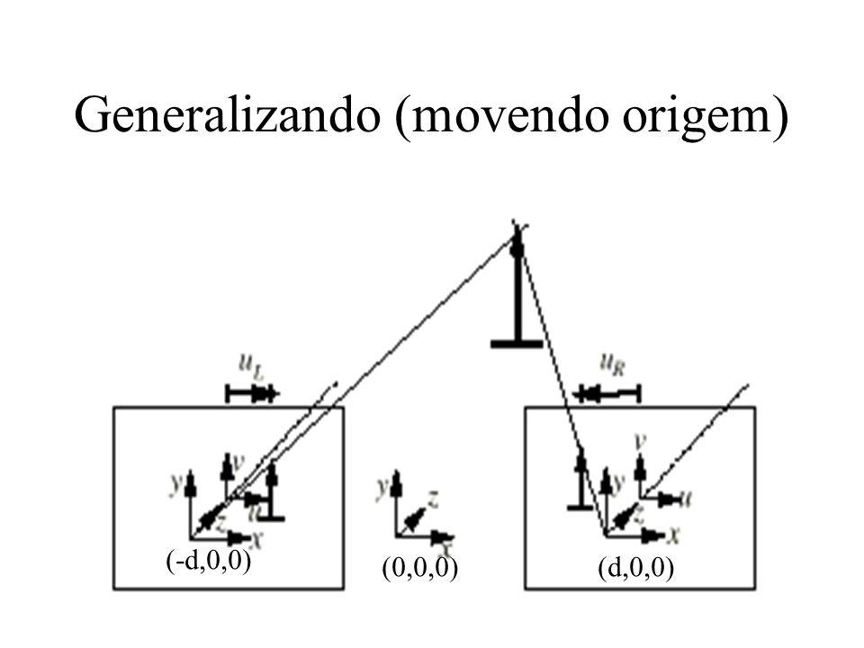 Generalizando (movendo origem) (0,0,0)(d,0,0) (-d,0,0)