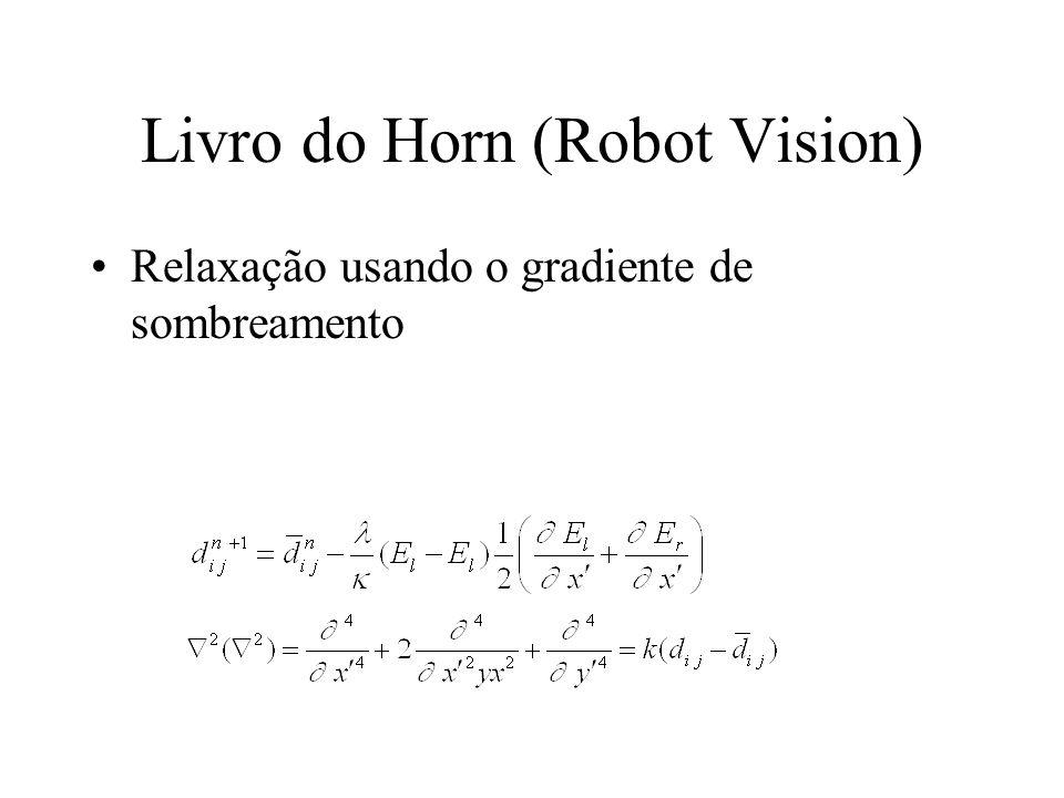 Livro do Horn (Robot Vision) Relaxação usando o gradiente de sombreamento