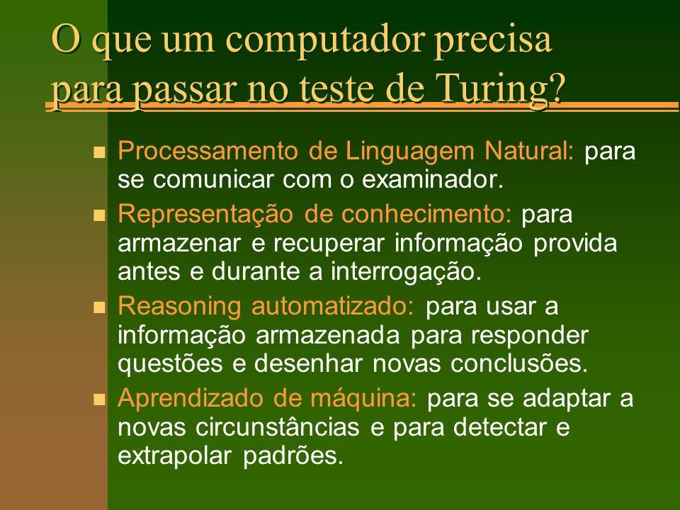 O que um computador precisa para passar no teste de Turing.