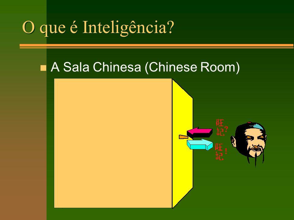 O que é Inteligência n A Sala Chinesa (Chinese Room)