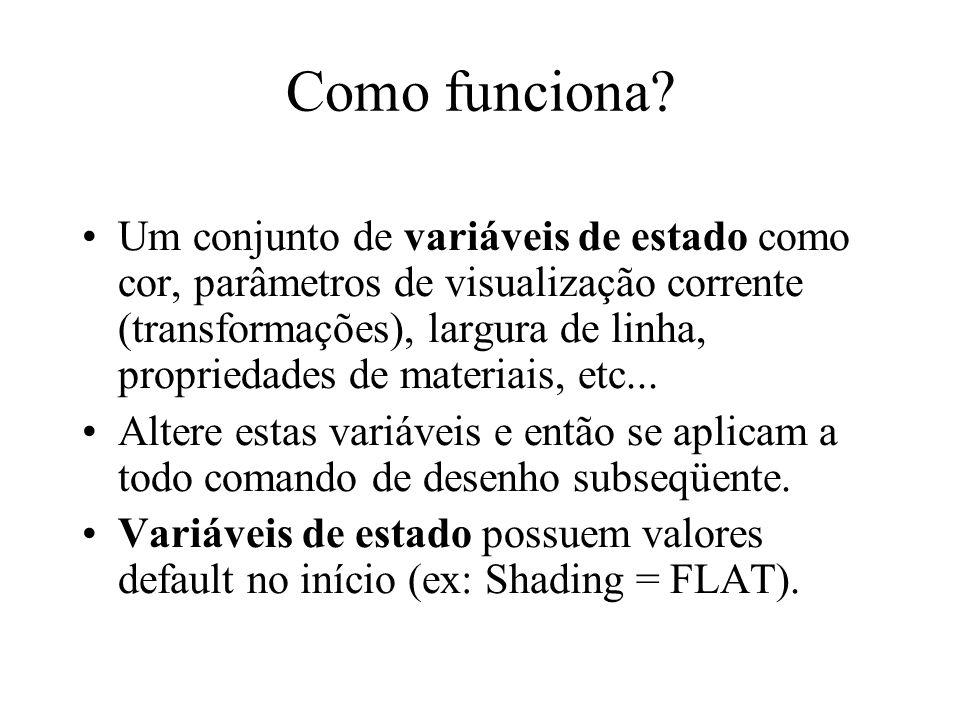 Máquina de estados glEnable() or glDisable().