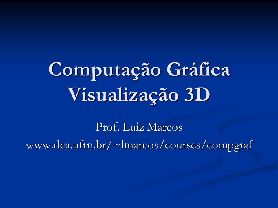 Computação Gráfica Visualização 3D Prof. Luiz Marcos www.dca.ufrn.br/~lmarcos/courses/compgraf