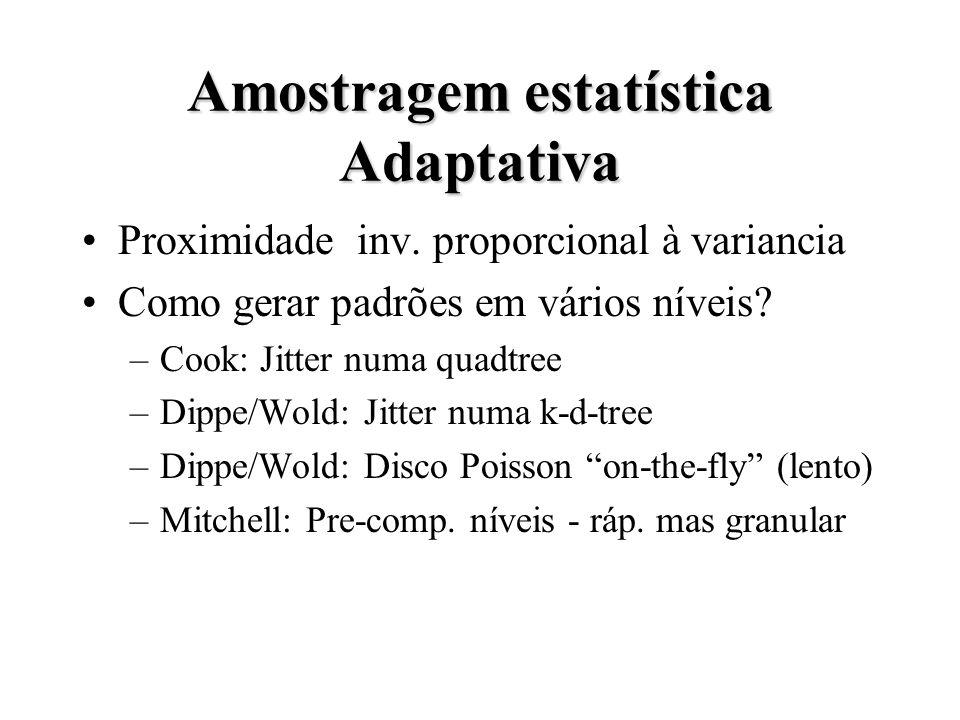 Amostragem estatística Adaptativa Proximidade inv.