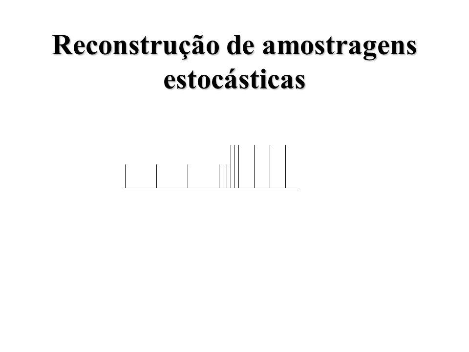 Reconstrução de amostragens estocásticas