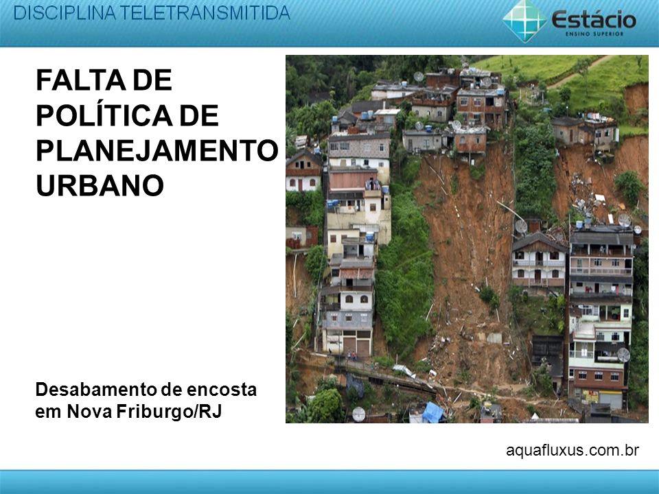 FALTA DE POLÍTICA DE PLANEJAMENTO URBANO Desabamento de encosta em Nova Friburgo/RJ aquafluxus.com.br
