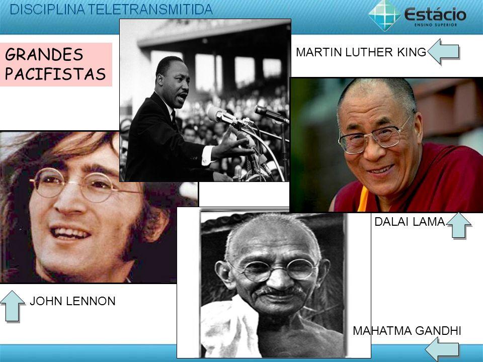 MARTIN LUTHER KING JOHN LENNON MAHATMA GANDHI DALAI LAMA GRANDES PACIFISTAS