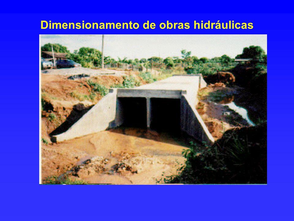 Dimensionamento de obras hidráulicas