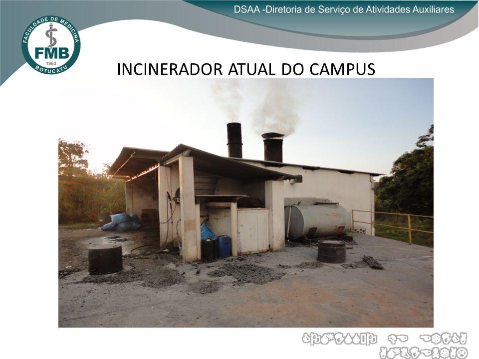 INCINERADOR ATUAL DO CAMPUS