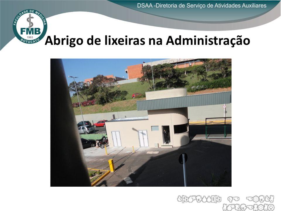 COLETA SELETIVA NA FMB ABRIGO DE MATERIAIS RECICLÁVEIS HC/FMB