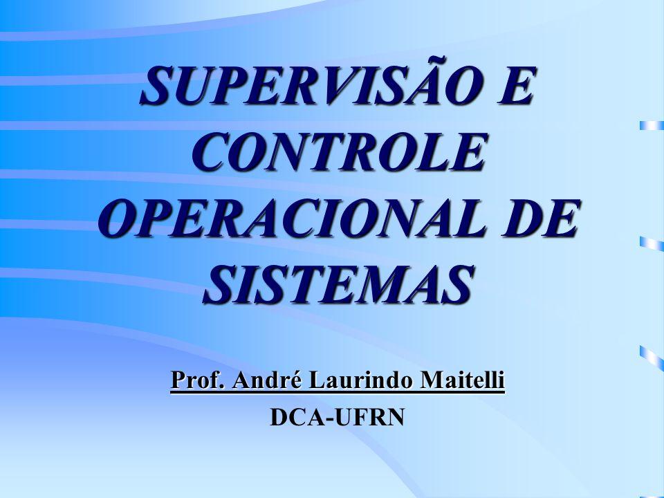 SUPERVISÃO E CONTROLE OPERACIONAL DE SISTEMAS Prof. André Laurindo Maitelli DCA-UFRN
