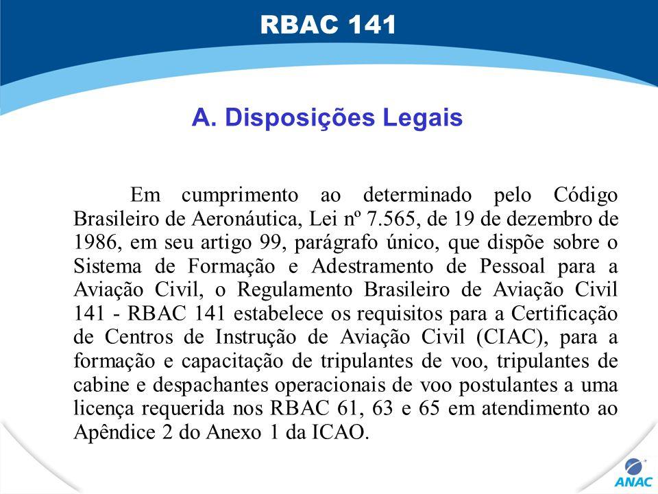Em cumprimento ao determinado pelo Código Brasileiro de Aeronáutica, Lei nº 7.565, de 19 de dezembro de 1986, em seu artigo 99, parágrafo único, que d