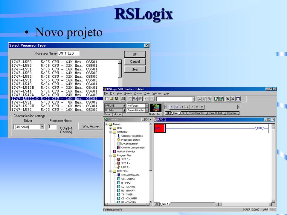 RSLogix Novo projeto