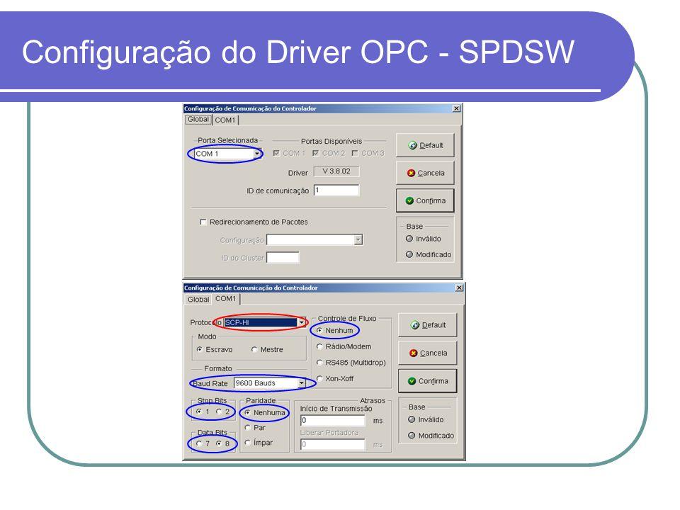 Configuração no InTouch Tela principal do OPCLink