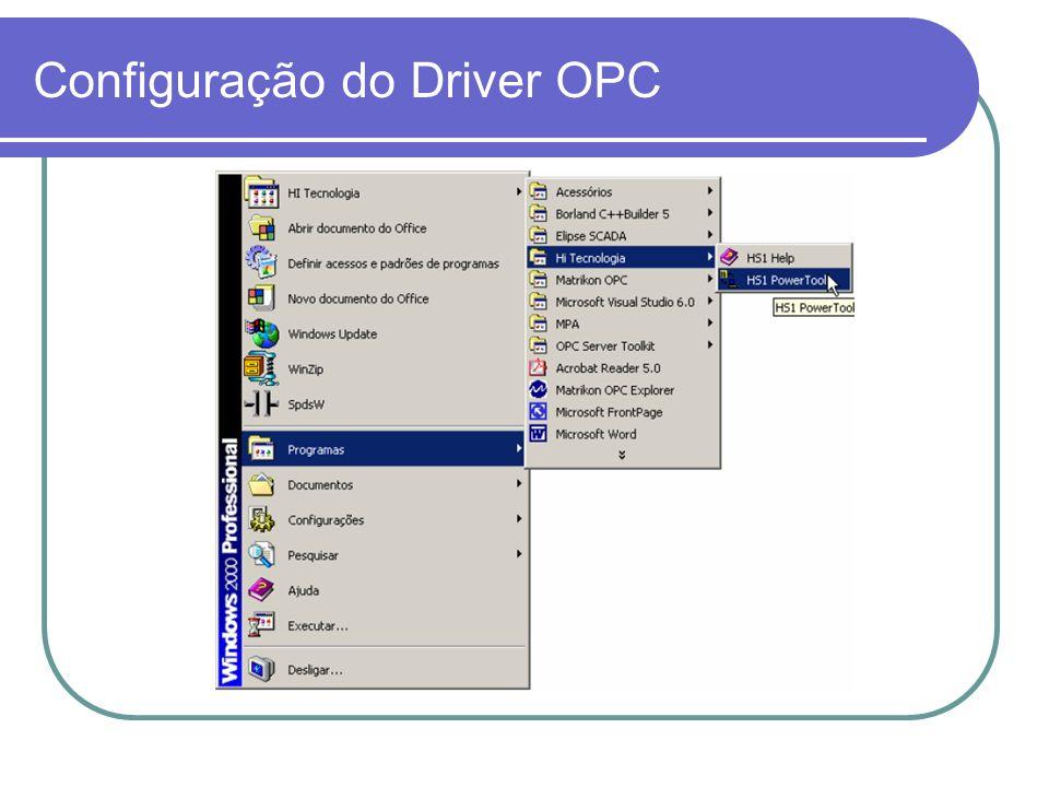 DEMO – Exemplo com InTouch Configuração do Driver OPC - SPDSW