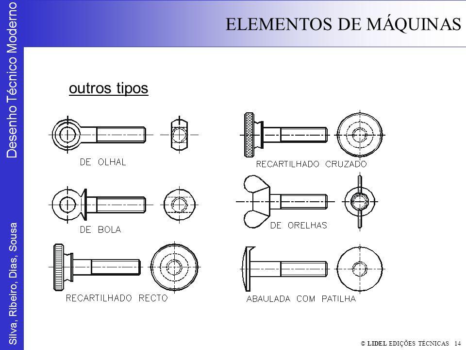 Silva, Ribeiro, Dias, Sousa Desenho Técnico Moderno ELEMENTOS DE MÁQUINAS © LIDEL EDIÇÕES TÉCNICAS 14 outros tipos