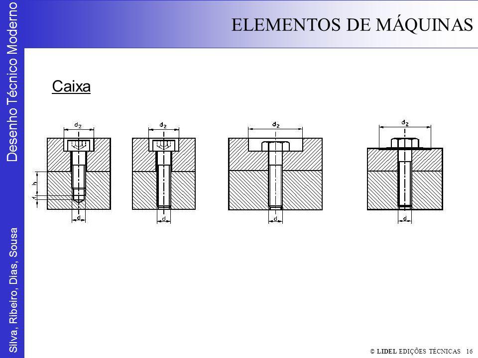 Silva, Ribeiro, Dias, Sousa Desenho Técnico Moderno ELEMENTOS DE MÁQUINAS © LIDEL EDIÇÕES TÉCNICAS 16 Caixa