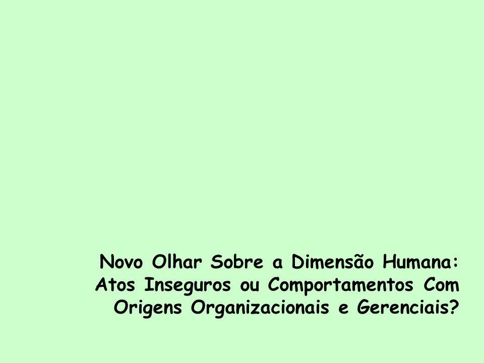 Novo Olhar Sobre a Dimensão Humana: Atos Inseguros ou Comportamentos Com Origens Organizacionais e Gerenciais?