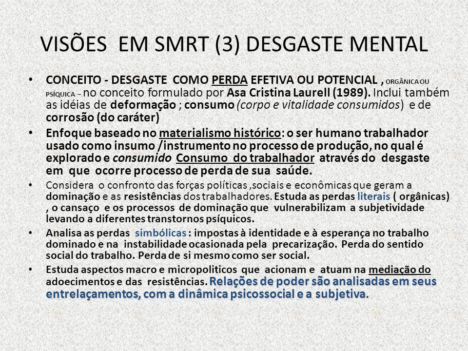 DESGASTE MENTAL E TRANSTORNOS PSÍQUICOS E PSICOSSOMÁTICOS SOFRIMENTO MENTAL: SENTIMENTOS DE PERDA E FRACASSO.