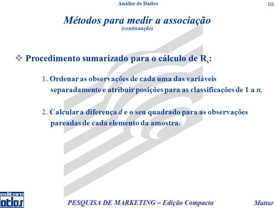 PESQUISA DE MARKETING – Edição Compacta Mattar Mattar 111 1.