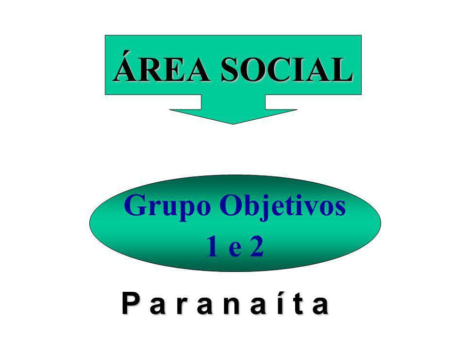 ÁREA SOCIAL Grupo Objetivos 1 e 2 P a r a n a í t a