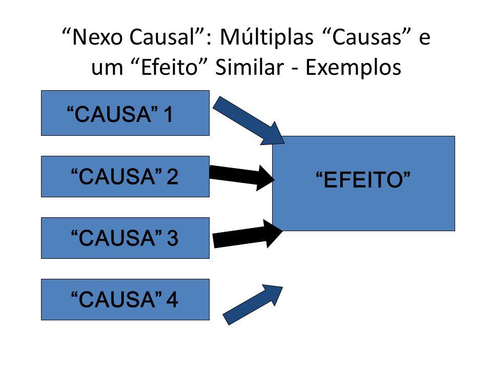 Nexo Causal: Múltiplas Causas e um Efeito Similar - Exemplos EFEITO CAUSA 1 CAUSA 2 CAUSA 3 CAUSA 4