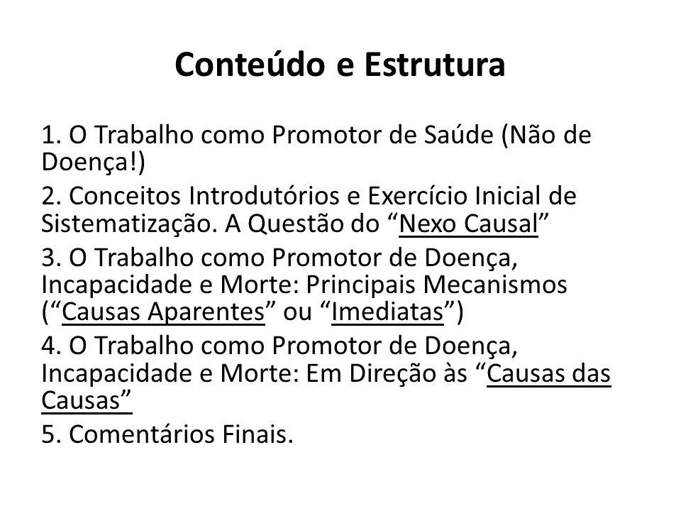 1. O TRABALHO COMO PROMOTOR DE SAÚDE (Não de Doença!)