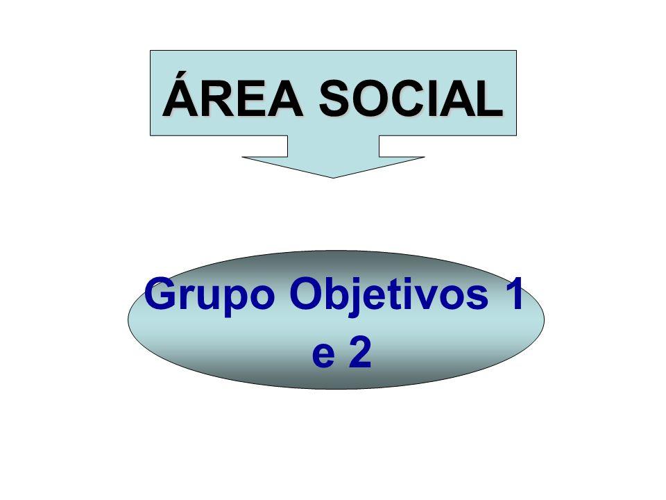 ÁREA SOCIAL Grupo Objetivos 1 e 2