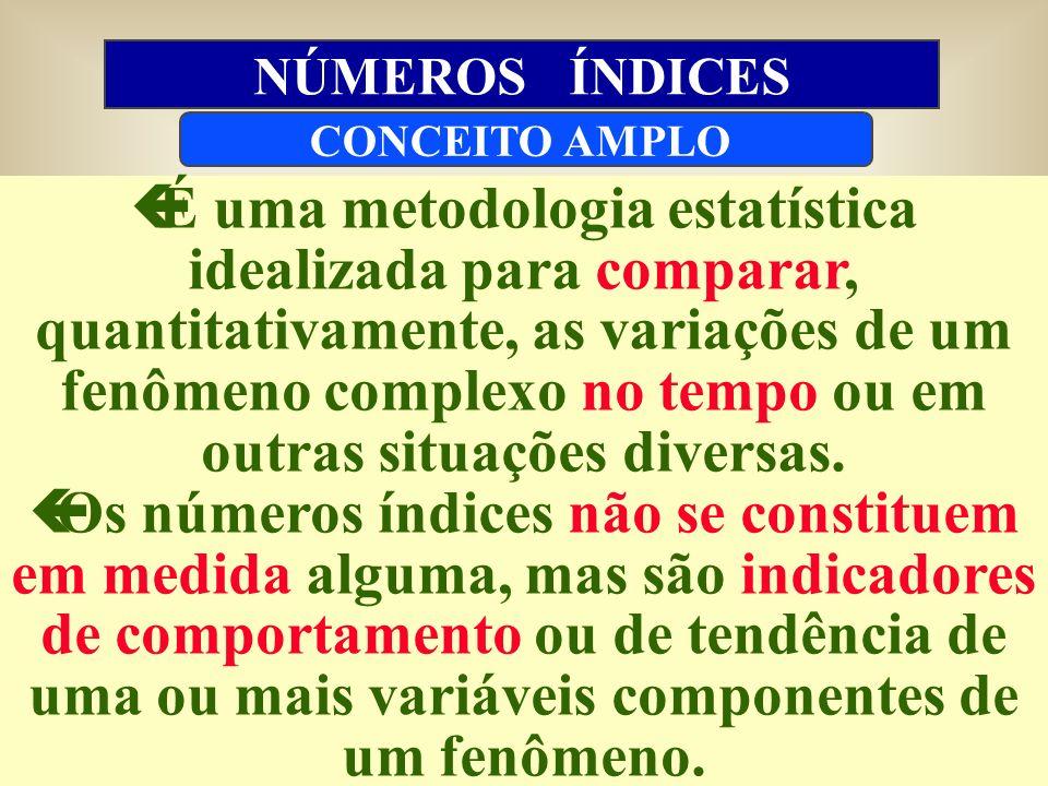çÉ uma metodologia estatística idealizada para comparar, quantitativamente, as variações de um fenômeno complexo no tempo ou em outras situações diversas.