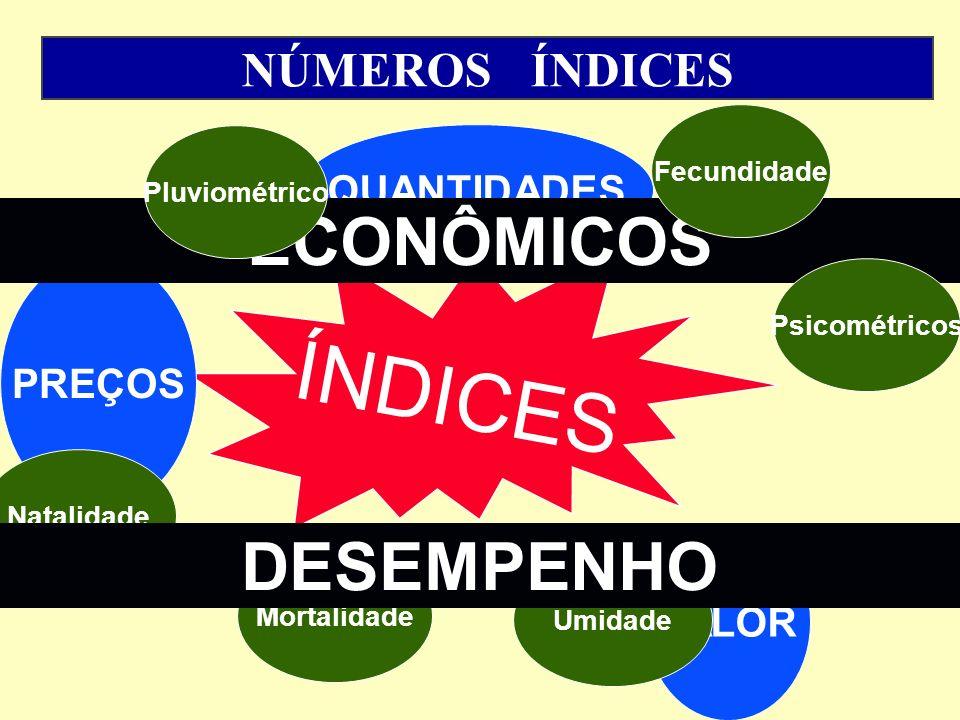 CONCEITOS RESTRITOS Índice de Preços - é um indicador que reflete a variação de preços de ou conjunto de bens e serviços entre momentos no tempo.