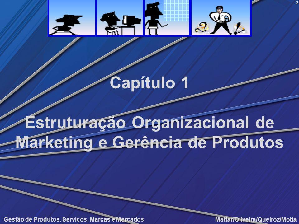 Gestão de Produtos, Serviços, Marcas e Mercados Mattar/Oliveira/Queiroz/Motta Estruturação Organizacional de Marketing e Gerência de Produtos 2 Capítu