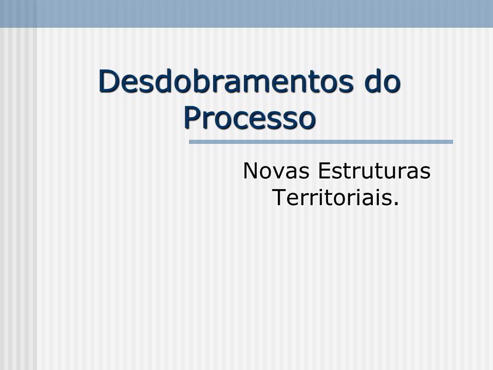 Desdobramentos do Processo Novas Estruturas Territoriais.