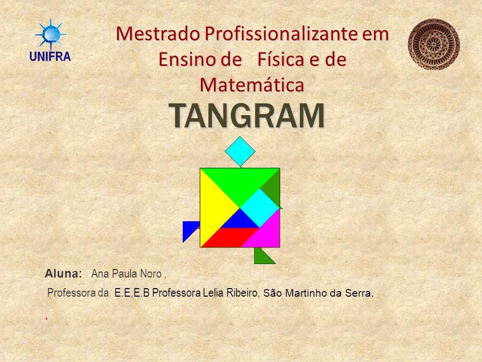 OBJETIVO Explorar as formas geométricas de figuras planas e o conceito de área, por meio do Tangram, com alunos de uma 8ª série do Ensino Fundamental