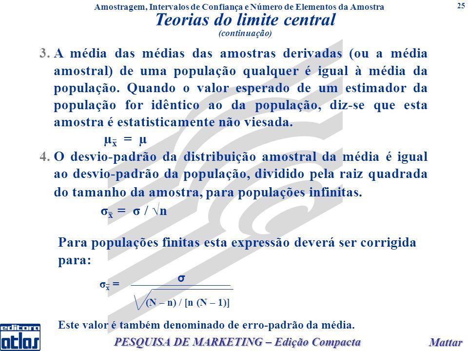 Mattar Mattar PESQUISA DE MARKETING – Edição Compacta 25 (N – n) / [n (N – 1)] p.