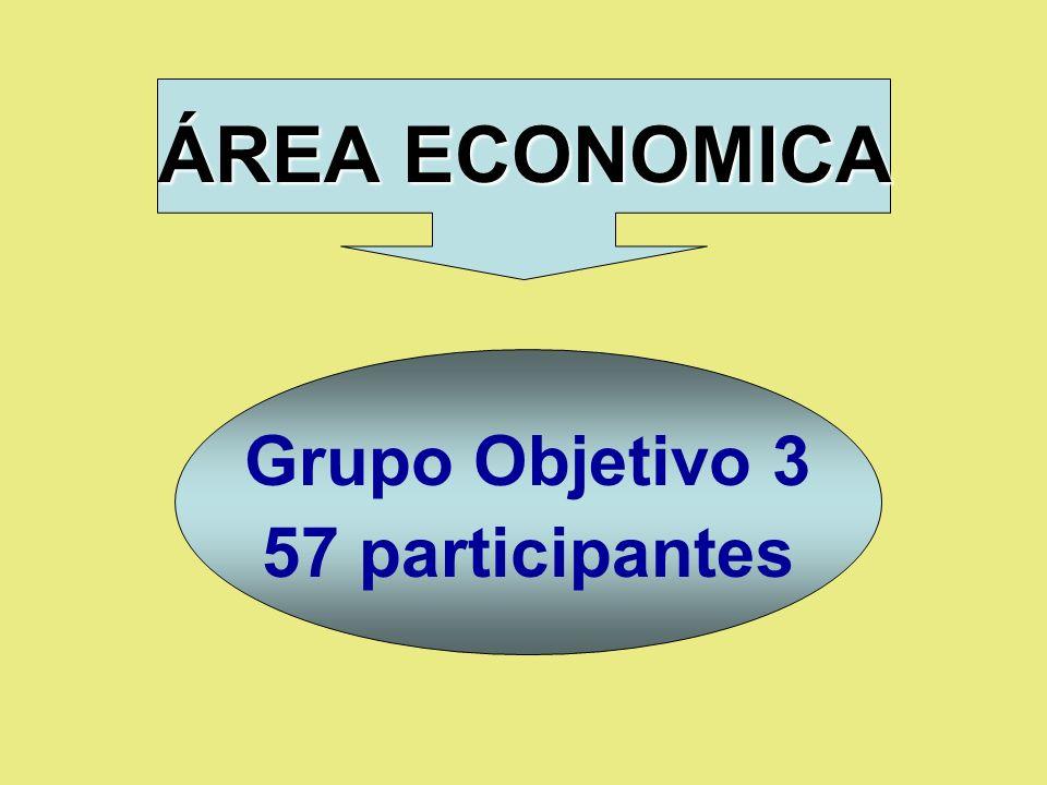 ÁREA ECONOMICA Grupo Objetivo 3 57 participantes