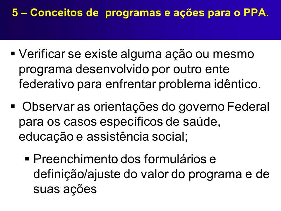 Verificar se existe alguma ação ou mesmo programa desenvolvido por outro ente federativo para enfrentar problema idêntico. Observar as orientações do