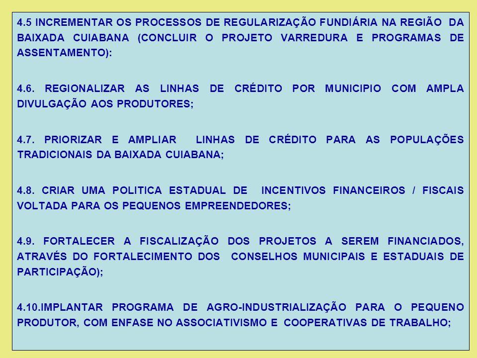 18.RECUPERAÇÃO DA PONTE DE RIO MUTUM (MT – 040-MIMOSO); 19.CONSTRUÇÃO DE PONTES DE CONCRETO RIO SÃO LOURENÇO (SANTO ANTONIO DO LEVERGER); 20.CONSTRUÇÃO DE VIA VICINAL LIGANDO O BAIRRO CÓXIPO – CPA- GUIA –ACORIZAL –ROSÁRIO OESTE; 21.CONSTRUÇÃO DE PASSARELAS BR-364 (BAIRRO NOVA ESPERANÇA III) e AV.FERNANDO CORREA DA COSTA; 22.