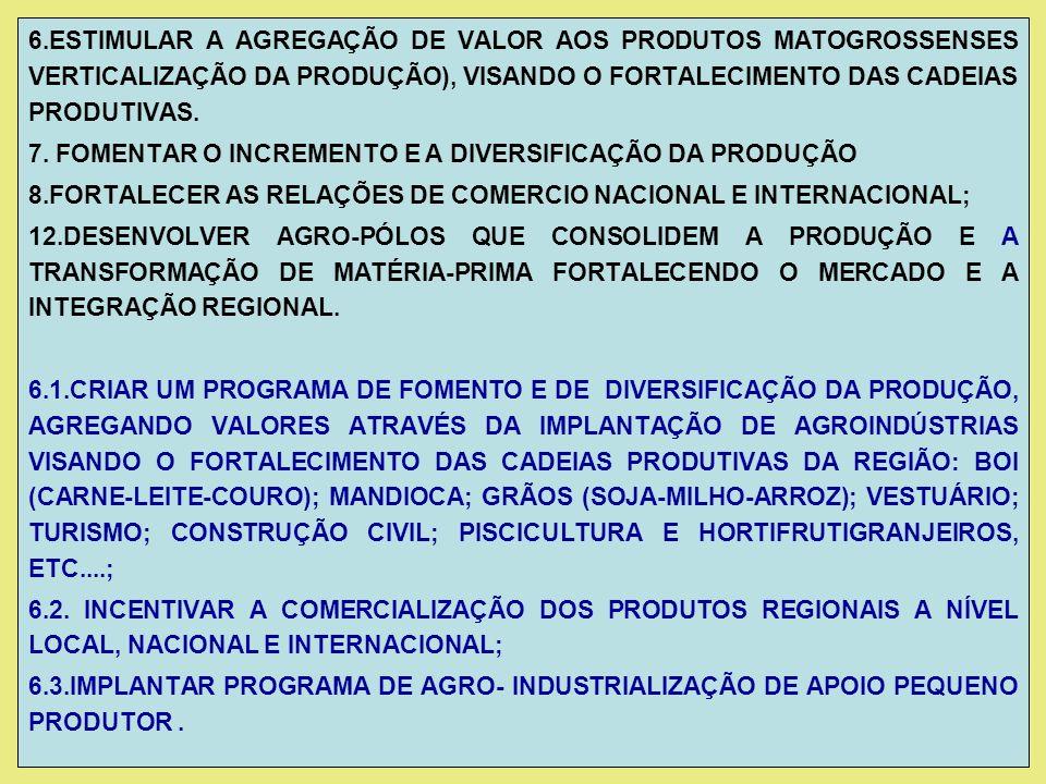 9.APOIAR A INTEGRAÇÃO SÓCIO-ECONÔMICA E CULTURAL DE MT.