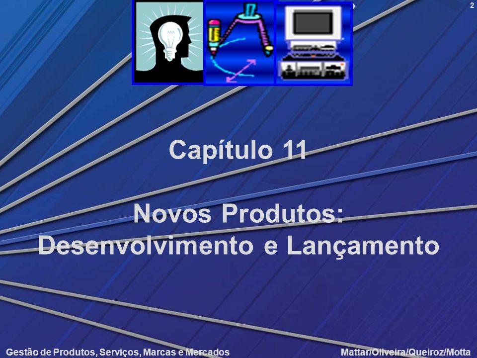 Novos Produtos: Desenvolvimento e Lançamento Gestão de Produtos, Serviços, Marcas e Mercados Mattar/Oliveira/Queiroz/Motta 2 Capítulo 11 Novos Produto