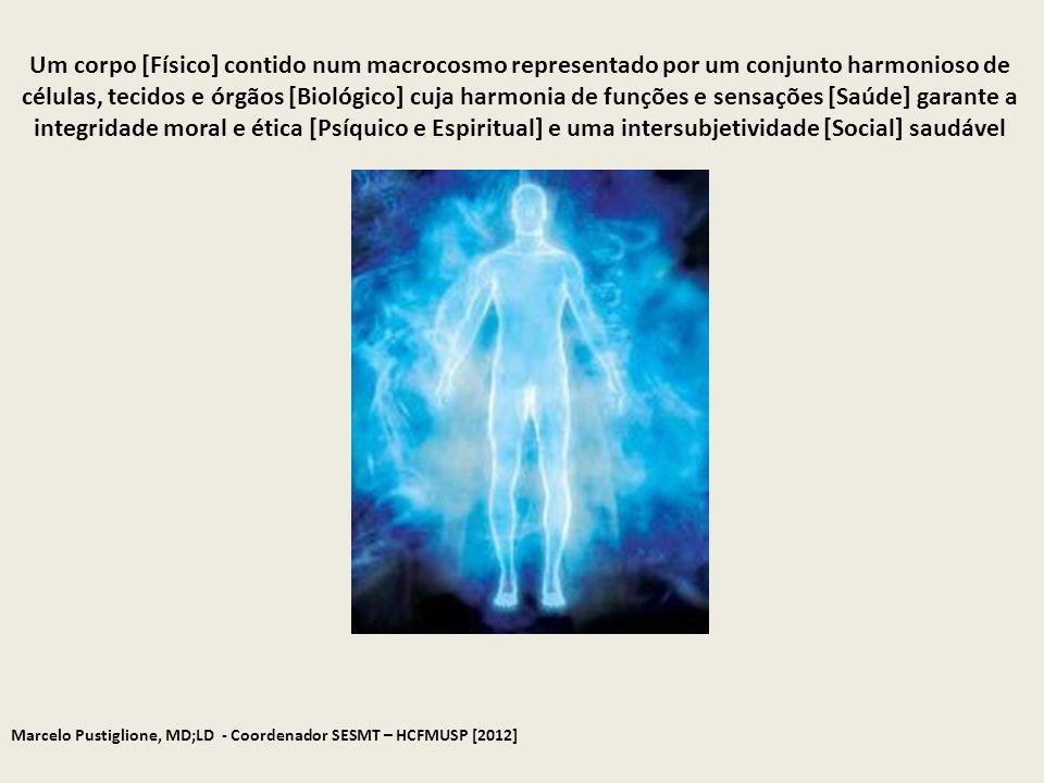 Marcelo Pustiglione, MD;LD - Coordenador SESMT – HCFMUSP [2012] Um corpo [Físico] contido num macrocosmo representado por um conjunto harmonioso de cé