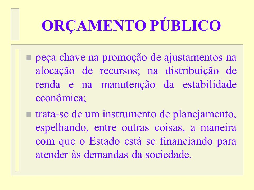Instrumentos Básicos de Planejamento e Orçamento no Brasil n Plano Plurianual – PPA n Lei de Diretrizes Orçamentárias – LDO n Lei Orçamentária Anual -
