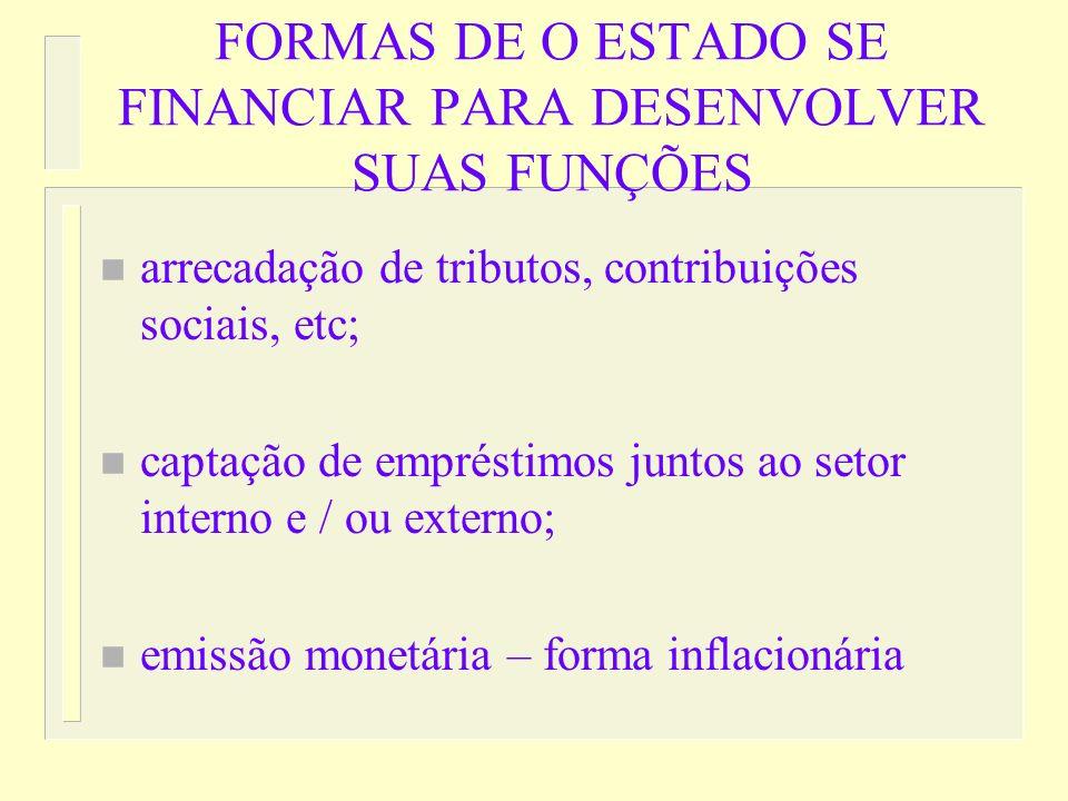 ORÇAMENTO PÚBLICO n peça chave na promoção de ajustamentos na alocação de recursos; na distribuição de renda e na manutenção da estabilidade econômica