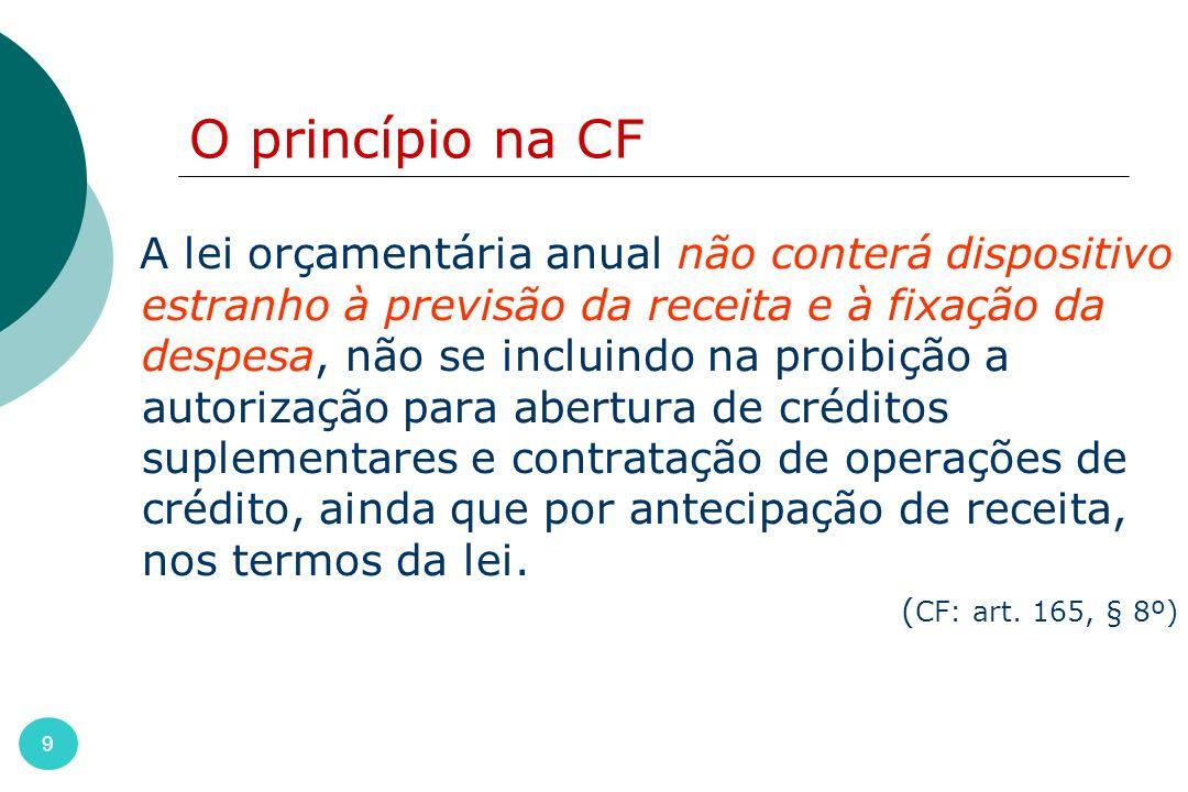 50 Finalidade principal: propiciar o controle contábil através da classificação do objeto imediato da despesa.