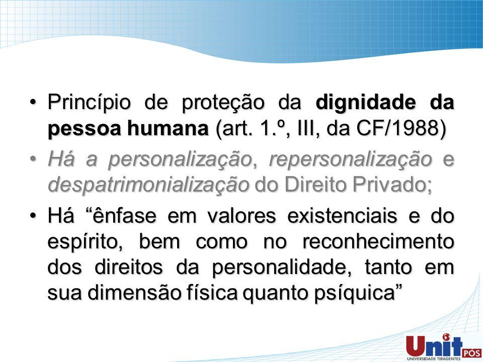 Princípio de proteção da dignidade da pessoa humana (art. 1.º, III, da CF/1988)Princípio de proteção da dignidade da pessoa humana (art. 1.º, III, da
