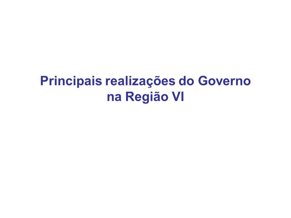 Principais realizações do Governo na Região VI