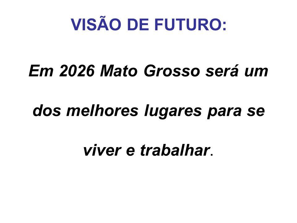 Em 2026 Mato Grosso será um dos melhores lugares para se viver e trabalhar. VISÃO DE FUTURO: