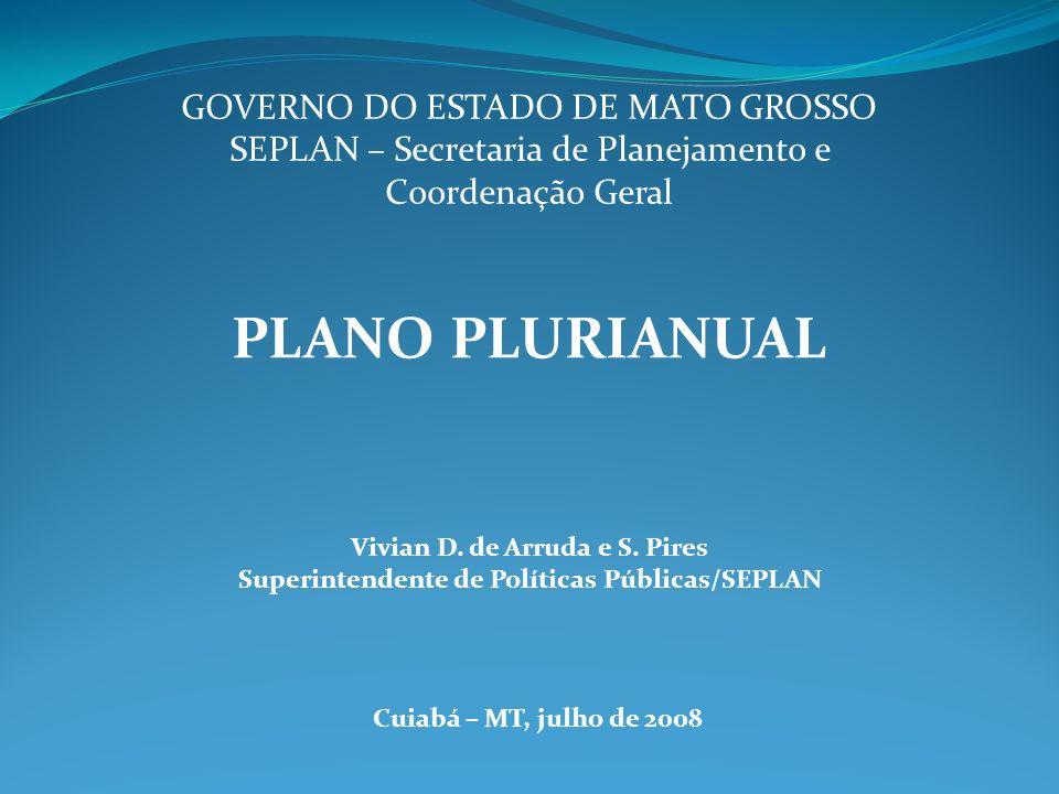 Aperfeiçoamento OBJETIVOS: Abordar conceitos sobre Planejamento Público e o Plano Plurianual.